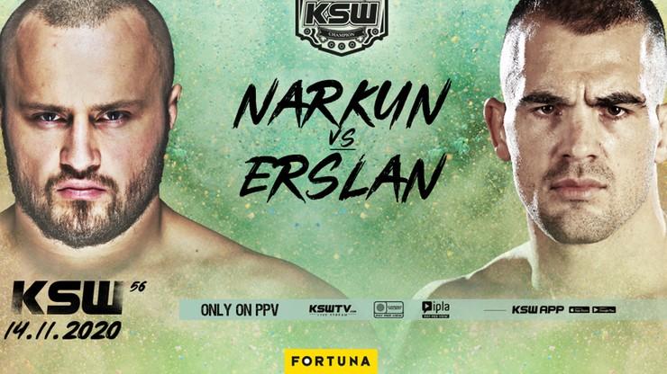 Tomasz Narkun (17-3, 3 KO, 13 Sub) podejmie 14 listopada Ivana Erslana (9-0, 5 KO, 1 Sub).