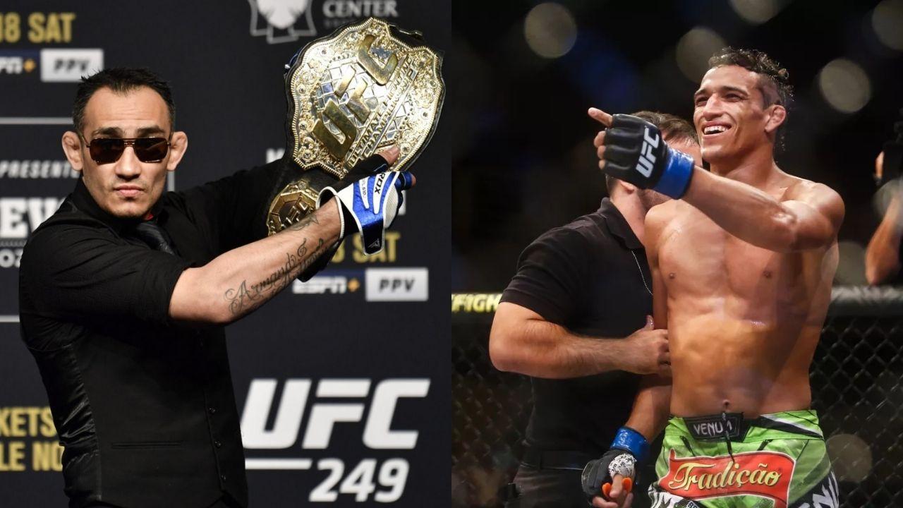 Charles Oliveira (30-8) na gali UFC 256  nie dał szans Tony'emu Fergusonowi (25-5)